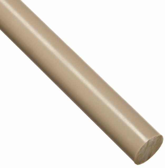 3//8 Diameter Standard Tolerance Polyurethane Round Rod 48 Length PUR ASTM D470 Opaque Black