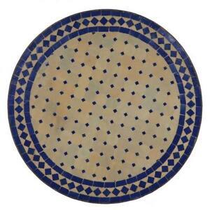 Détails sur Oriental Table de Jardin Ø 60 cm | Marocain Table en Mosaïque  Blau-Terracotta