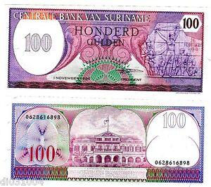 Suriname Surinam Billet 100 Gulden 1985 P128 Neuf Unc Hqaxgrgo-07221112-954910643