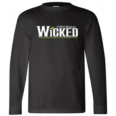 New WICKED Broadway Musical About Wizard Of Oz Men/'s Black T-Shirt Size S to 3XL