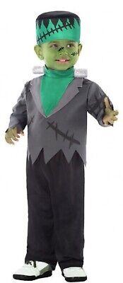 Da Bambini Verde Tv Monster Frankenstein Abito Costume Halloween Lustro Incantevole