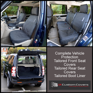 LAND-ROVER-DISCOVERY-4-TAILORED-BOOT-LINER-FRONT-REAR-SEAT-COVERS-022-107-157
