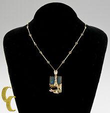 1970's Lapponia Black Opal 14K Necklace Designed by Bjorn Weckstrom