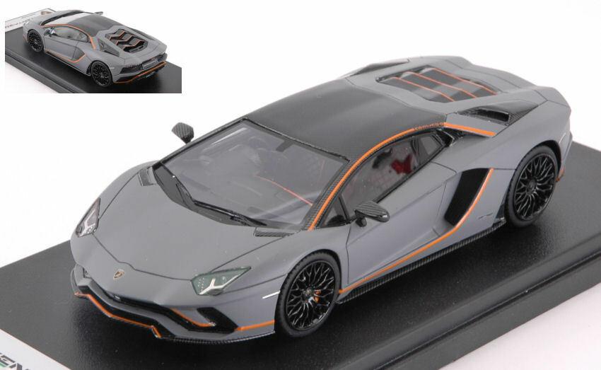 Lamborghini Aventador S 2016 Matt gris 1 43 Model Lookintelligent   top marque
