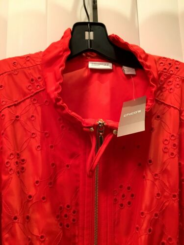 Over Jacket 16 Eyelet Zenergy Chicos L Xl Størrelse Amelia All 14 OxXqTq