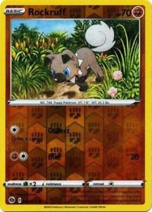 Pokemon Card Champion's Path 029/073 29/73 Rockruff Common Reverse Holo