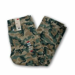 Levis-Relaxed-Fit-Ace-Cargo-Pants-Camo-Green-Beige-Black-30-32-33-34-36-38-40