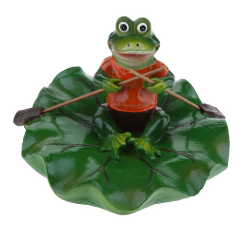 Künstliche Lotus Leaf Frog Wasser Schwimmende Ornament Teich Dekoration