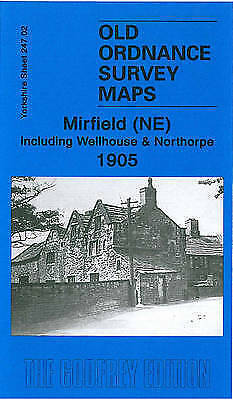OLD ORDNANCE SURVEY MAP Mirfield (NE) Including Wellhouse and Northorpe 1905