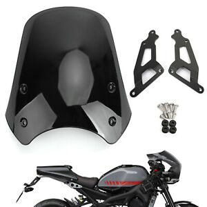 ABS Plastic Motorcycle Windshield WindScreen For Yamaha XSR900 2016-19 Black T5