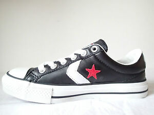 CONVERSE ALL STAR STAR PLAYER OX 105869 NERO BLACK PELLE LEATHER BASSE CHUCK