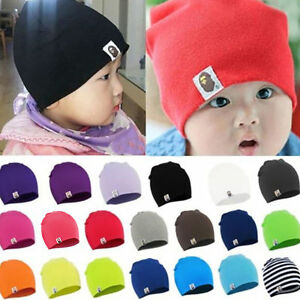e55758ee515 Newborn Baby Kids Boy Girl Infant Toddler Cotton Knit Hats Crochet ...