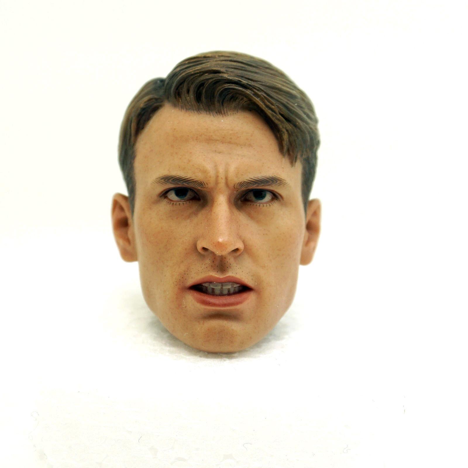 X18-07 1 6 Escala Escultura de cabeza HOT TOYS Capitán América