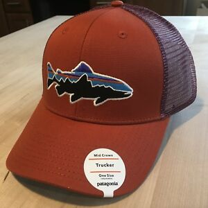Patagonia Fitz Roy Trout Trucker Hat New With Tags - Roots Red ... 16fdda0ce16f