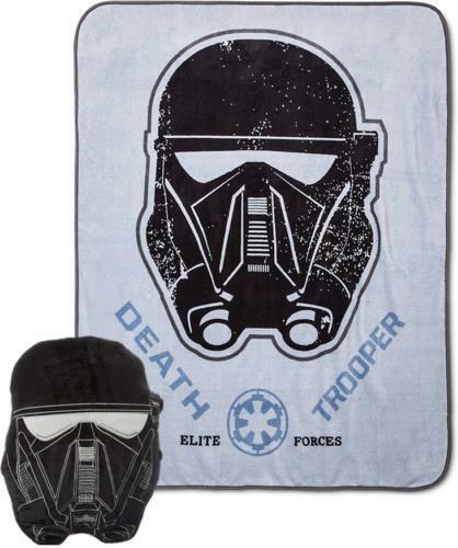 """Star Wars Rogue One Death Trooper Fleece Blanket 46x60/"""" W//14/""""x13/""""x3/"""" Pillow"""