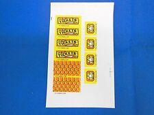 Bally williams Funhouse Pinball Sticker Set  NOS    31-2-50003-2-SP