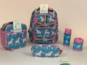 Pottery Barn Kids Unicorn Small Backpack Aqua Lunchbox