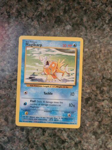 MAGIKARP Base Set 35//102 Uncommon Pokemon Card Unlimited Edition Near Mint