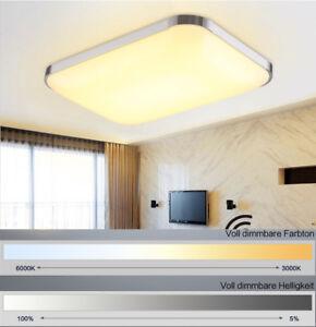 Details zu 36W 65x43 cm Rechteckig Dimmbar LED Deckenleuchte Lampe  Wohnzimmer Schlafzimmer