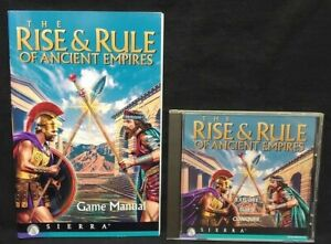 1996 Rise Rule of Ancient Empires by Sierra Game + Manual - Mint Disc 1 Owner !