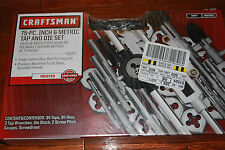 NEW CRAFTMAN 75 pc  INCH & METRIC TAP AND DIE SET # 52377