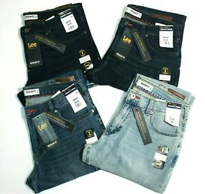 Men-039-s-Lee-Modern-Series-Regular-Fit-Tapered-Leg-4-Way-Stretch-Blue-Colors-Jeans