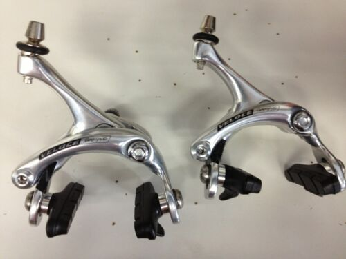 Campagnolo Veloce FRONT/&REAR brake calipes With brake shoes,NEW.Silver
