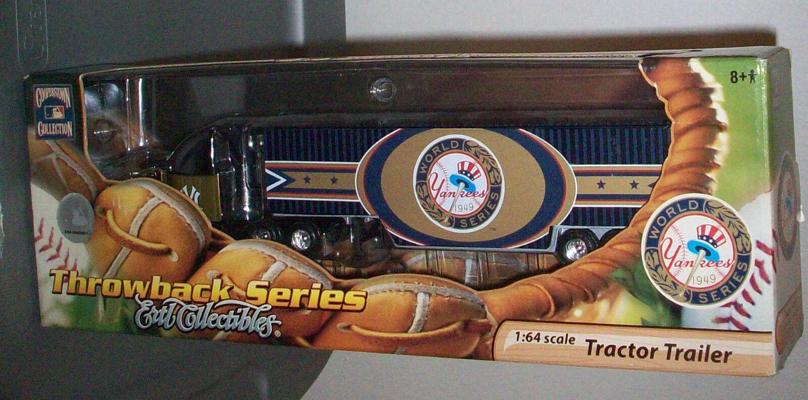 MLB NEW YORK YANKEES NYY 1 1 1 64 DIE CAST TRACTOR TRAILER RIG ERTL WORLD SERIES NEW f1565e