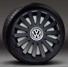 """Set COMPLETO 15 """"NERO COPRICERCHI per adattarsi VW transp.t4, GOLF, TOURAN, POLO, CADDY"""