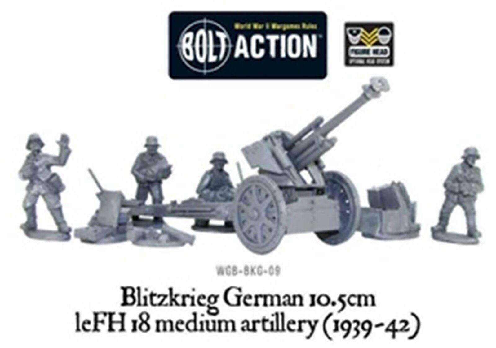 NEW BOLT ACTION MINIATURES BLITZKRIEG LEFH 18 10.5CM HOWITZER 1939-42 WGB-BKG-09