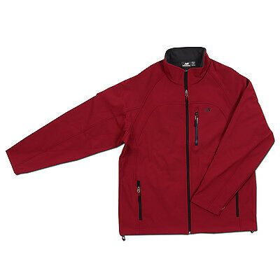 New Balance Windstopper Burgundy Soft Shell Jacket Full Zipup 3 Pockets RN130893