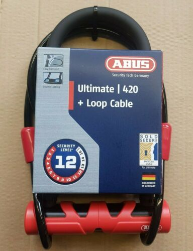 Abus Ultimate 420 Loop Cable Padlock for Bike Bicycle Security Level 12