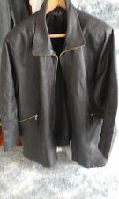 Milan Leather Jacket Biker Zips Perfect Large Side Zips