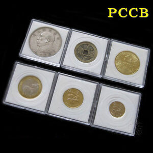 20 Acrylic Plastic Capsules Case Display for American Eagle Silver Gold Coin US