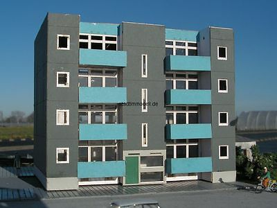 "Sylt Modell 9012 Apartementhaus ""Westerland"" Lasercutbausatz H0 1:87"