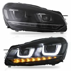 LED-Headlights-with-DRL-Sequential-Turn-Sig-for-10-13-Golf-MK6-GTI-12-13-Golf-R