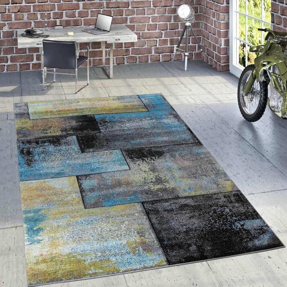 Tappeto grande moderno astratto design pattern TAPPETI Morbido Pile basso Tappetini Nuovi Multi