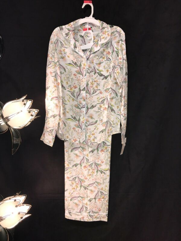Womens Two Piece Pajama Outfit, Long Sleeve, Gilligan & Omally, Nwt, Floral S-2x
