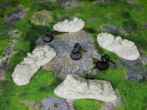 - Warhammer terrain scenery 40k wargames Ancient Rubble Piles 4 unpainted