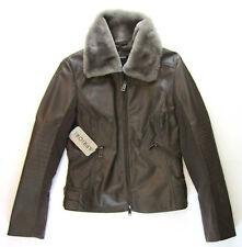 APRIORI Lederjacke 38 braun Webpelz Pelzkragen Bikerlook Leather jacket neu