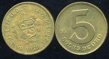 PEROU  5 soles de oro  1979