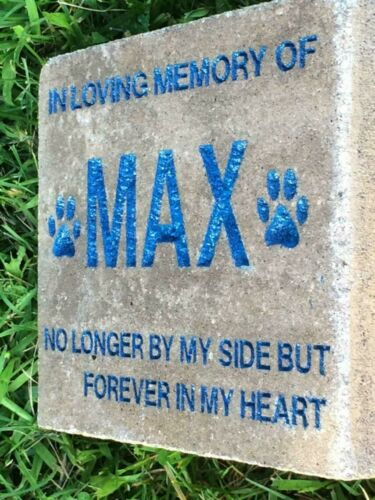 Personalized Angel Cat Engraved Pet Memorial Stone Dog Horse Garden Stone