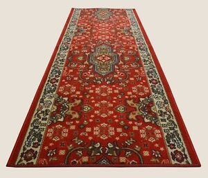 Image Is Loading Persian Medallion Custom Size Runner Antibacterial Red Non