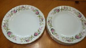 "Regency Rose Fine China Bread Butter Dessert Plates 8 6"" by Creative China"