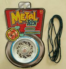 New Metal Tech Responsive Yoyo Silver Metal Body, Roller Bearing Axle Spin Pro