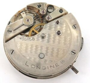 SCARCE-c1885-LONGINES-LEVER-SET-POCKET-WATCH-MOVEMENT-amp-DIAL