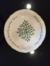 "Lenox Holiday Dimension Collection Sentiment Dessert 12"" Platter"