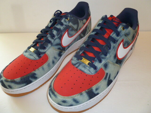 Nike Air AF1 Mens size 17 US Denim Pattern 2013 Air Force 1