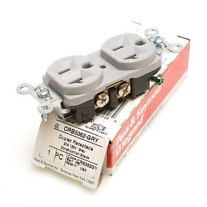 LOT OF 9 PASS /& SEYMOUR BR20 DUPLEX RECEPTACLE 20A 125V BROWN COMMERCIAL GRADE