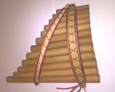 Genuine Medium Andean Sisca Curved Pan Pipes/ Flute 12 pipes
